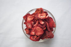 Freeze dried strawberries Royalty Free Stock Photo