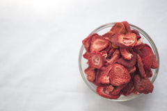 Freeze Dried Strawberries Royalty Free Stock Photography