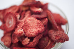 Freeze dried strawberries Stock Image