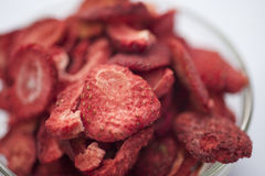 Freeze dried strawberries Royalty Free Stock Image