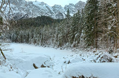 The freeze Frillensee  lake winter view. Stock Photos