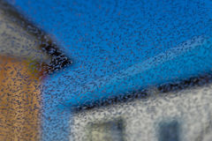 Freeze and frost. On the glass Royalty Free Stock Photo