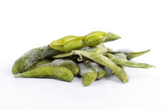 Freeze Green soybean Stock Photo