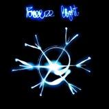 Freeze light snowflake. Royalty Free Stock Image