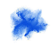 Freeze motion of blue powder exploding, isolated Stock Photos