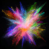 Freeze motion of colored dust explosion. Stock Image