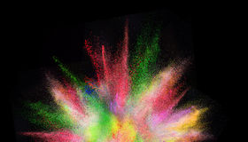 Freeze motion of colored dust explosion. Stock Images