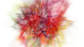 Freeze motion explosion of prismatic rainbow multicolored powder paint for Holi