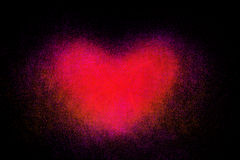 Freeze motion of heart shaped red powder Royalty Free Stock Photos