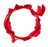 Freeze motion. Isolated shot of freeze motion of transparent red silk, isolated on white background Royalty Free Stock Photos