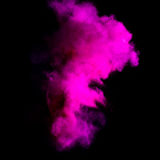 Freeze motion of purle dust explosion Royalty Free Stock Photos