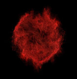 Freeze motion of red dust explosion isolated on Stock Image