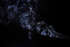 Freeze motion of smoke. Royalty Free Stock Images