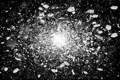 Freeze motion of white powder exploding Stock Photos