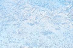 Freeze pattern. On winter window stock photos
