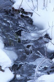 Freeze river. In winter,Pyrenees Stock Images