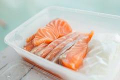Freeze salmon fish Royalty Free Stock Images