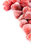 Freeze strawberry. On white background Stock Photos