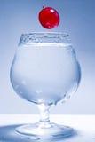 Freezed Bewegungstraube und Glaswasser Stockbilder