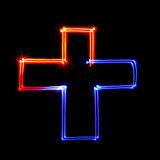 Freezelight cross Royalty Free Stock Images