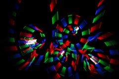 Freezelight multicolor en la forma de espirales Imágenes de archivo libres de regalías