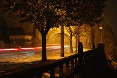 Freezelight no túnel na noite Fotografia de Stock