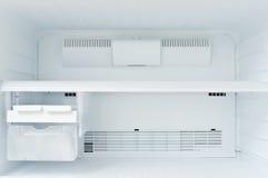 A freezer. An empty freezer of a refrigerator Royalty Free Stock Photo