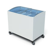 Freezer chest  on white background. 3d render image Royalty Free Stock Photography
