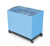 Freezer chest  on white background. 3d rendering Royalty Free Stock Images