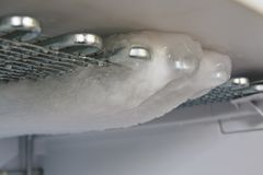 Freezer while defrosting royalty free stock photos