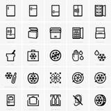 Freezer icons stock illustration