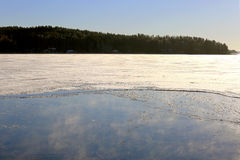 Freezing Blue Sea with Vapor Royalty Free Stock Image