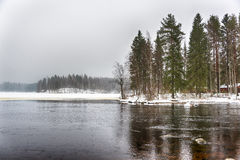 Freezing cold lake Royalty Free Stock Photography