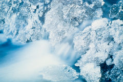 Freezing Creek. Small creek freezing up at -40 below Royalty Free Stock Photography