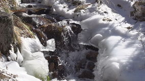 Freezing Creek stock video