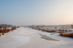 Freezing day in Lower Silesia Stock Image
