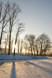 Freezing day in Lower Silesia Stock Photography