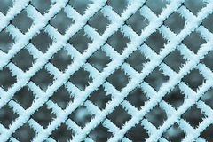 Freezing fence pattern Stock Photo