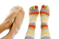 Freezing foot Stock Image