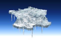 Freezing france royalty free stock image