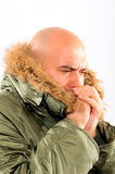 Freezing guy Royalty Free Stock Photography