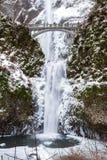 Freezing Multnomah Falls Stock Photo