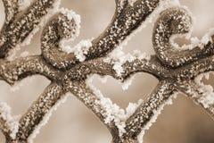 Freezing patterns on metal royalty free stock photo