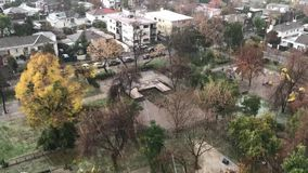 Freezing rain in Chile. Freezing rain in Santiago, Chile stock video footage
