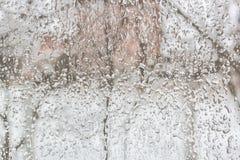 Freezing rain outside the window on a foul day Royalty Free Stock Photo