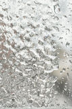 Freezing rain outside the window on a winter day Royalty Free Stock Photos