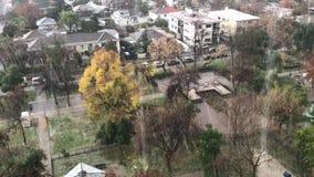 Freezing rain in Chile. Freezing rain in Santiago, Chile stock footage