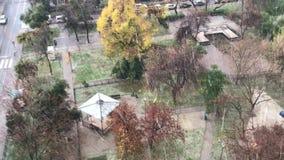 Freezing rain in Chile. Freezing rain in Santiago, Chile stock video