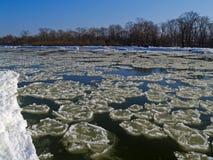 The freezing river Stock Photo