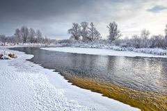 The freezing river Stock Images